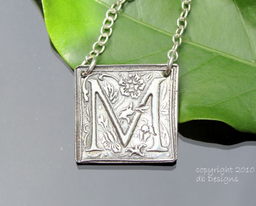 Luxury Embossed Initial Pendants