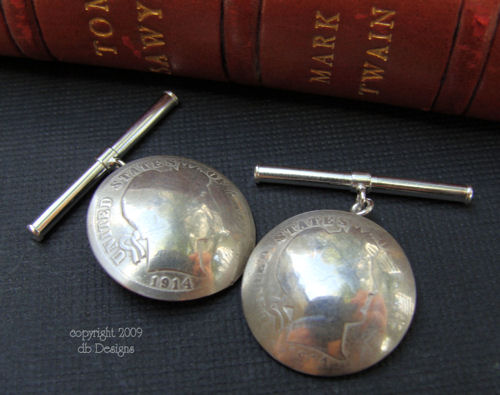 Early 1900's Silver Barber Dime coin Cufflinks-silver cufflinks, coin cufflinks, dime cufflinks, vintage cufflinks, barber dime, dime jewelry, vintage coins