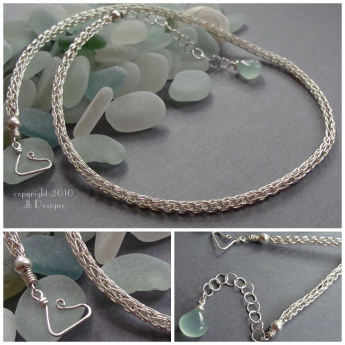 Hand woven Sterling Silver Chain-Sterling silver chain, handmade chain, woven chain, knit chain, sterling viking knit chain