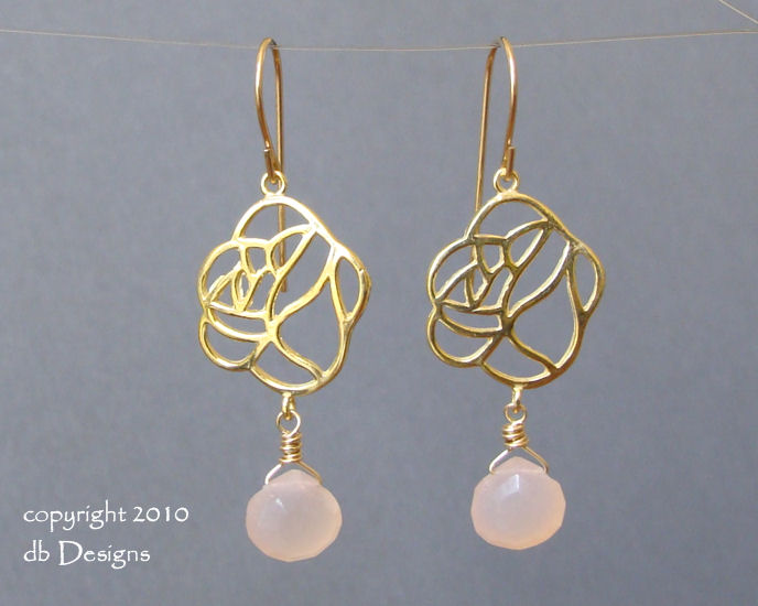 Golden Roses Earrings Dangling Custom gemstone Briolettes-pink chalcedony, gold rose earrings, briolette earrings, gold satin finish earrings, flower earrings, orchid earrings, organic jewelry, wedding jewelry, bridesmaid jewelry, custom bridal jewelry,  briolette earrings, gold earrings, flower earrings, organic jewelry, wedding jewelry, bridesmaid jewelry, custom bridal jewelry, matte gold branch earrings, Gold and custom gemstone branch twig earrings, briolette branch earrings, gold earrings, custom gemstone jewelry, organic jewelry, wedding jewelry, custom bridesmaid jewelry gift, briolette earrings, gold earrings, branch, twig earrings, flower earrings, organic jewelry, wedding jewelry, bridesmaid jewelry, custom bridal jewelry