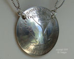 Vintage Silver Standing Liberty Coin Necklace-coin necklace, liberty quarter, silver coin jewelry