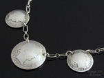 Antique Silver Barber Coin Necklace-silver coin necklace, vintage silver coins, coin jewelry, vintage necklace