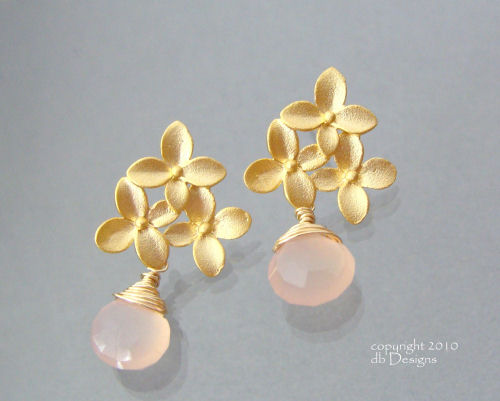 Golden Blossom Earrings with Custom Gemstone Briolettes-pink chalcedony briolette earrings, gold earrings, flower earrings, organic jewelry, chalcedony jewelry, custom wedding jewelry, bridesmaid jewelry, custom wedding jewelry, briolette earrings, gold earrings, flower earrings, organic jewelry, wedding jewelry, bridesmaid jewelry, custom bridal jewelry, matte gold branch earrings, Gold and custom gemstone branch twig earrings, briolette branch earrings, gold earrings, custom gemstone jewelry, organic jewelry, wedding jewelry, custom bridesmaid jewelry gift, briolette earrings, gold earrings, branch, twig earrings, flower earrings, organic jewelry, wedding jewelry, bridesmaid jewelry, custom bridal jewelry