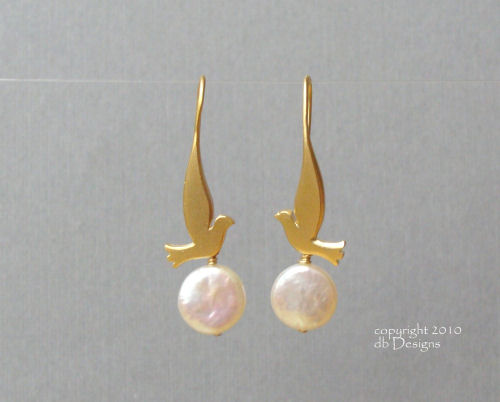 Golden Dove Earrings with Custom Gemstone or Pearls-coin pearl earrings, dove earrings, bird earrings, bird jewelry, coin pearl jewelry,  briolette earrings, gold satin finish earrings, flower earrings, orchid earrings, organic jewelry, wedding jewelry, bridesmaid jewelry, custom bridal jewelry,  briolette earrings, gold earrings, flower earrings, organic jewelry, wedding jewelry, bridesmaid jewelry, custom bridal jewelry, matte gold branch earrings, Gold and custom gemstone branch twig earrings, briolette branch earrings, gold earrings, custom gemstone jewelry, organic jewelry, wedding jewelry, custom bridesmaid jewelry gift, briolette earrings, gold earrings, branch, twig earrings, flower earrings, organic jewelry, wedding jewelry, bridesmaid jewelry, custom bridal jewelry