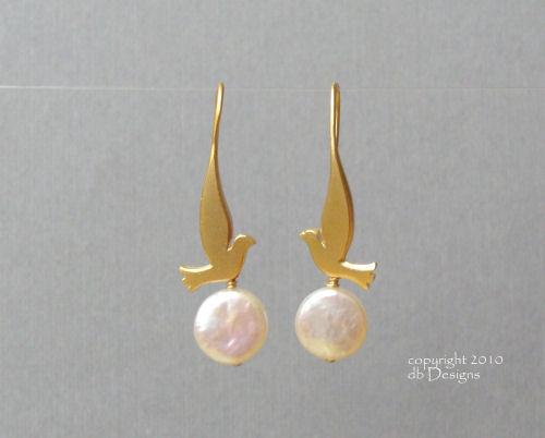Golden Dove Earrings with Custom Gemstone or Pearls-coin pearl earrings, dove earrings, bird earrings, bird jewelry, coin pearl jewelry,  briolette earrings, gold satin finish earrings, flower earrings, orchid earrings, organic jewelry, wedding jewelry, bridesmaid jewelry, custom bridal jewelry,  briolette earrings, gold earrings, flower earrings, organic jewelry, wedding jewelry, bridesmaid jewelry, custom bridal jewelry, matte gold branch earrings, Gold and custom gemstone branch twig earrings, briolette branch earrings, gold earrings, custom gemstone jewelry, organic jewelry, wedding jewelry, custom bridesmaid jewelry gift, briolette earrings, gold earrings, branch, twig earrings, flower earrings, organic jewelry, wedding jewelry, bridesmaid jewelry, custom bridal jewelry