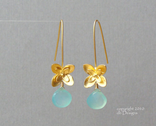 Golden Blossom Dangle Earrings with Custom Gemstone Briolette-aqua chalcedony earrings, briolette earrings, gold earrings, flower earrings, organic jewelry, wedding jewelry, bridesmaid jewelry, custom bridal jewelry, matte gold branch earrings, Gold and custom gemstone branch twig earrings, briolette branch earrings, gold earrings, custom gemstone jewelry, organic jewelry, wedding jewelry, custom bridesmaid jewelry gift, briolette earrings, gold earrings, branch, twig earrings, flower earrings, organic jewelry, wedding jewelry, bridesmaid jewelry, custom bridal jewelry