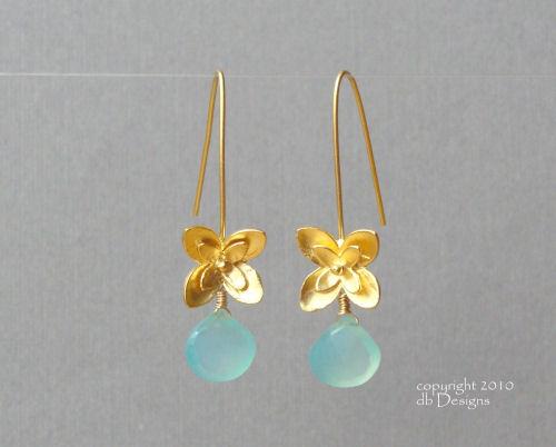 Golden Blossom Dangle Earrings with Custom Gemstone Briolette-aqua chalcedony earrings, briolette earrings, gold earrings, flower earrings, organic jewelry, wedding jewelry, bridesmaid jewelry, custom bridal jewelry, matte gold branch earrings, Gold and custom gemstone branch twig earrings, briolette branch earrings, gold earrings, custom gemstone jewelry, organic jewelry, wedding jewelry, custom bridesmaid jewelry gift, briolette earrings, gold earrings, branch, twig earrings, flower earrings, organic jewelry, wedding jewelry, bridesmaid jewelry, custom bridal jewelry